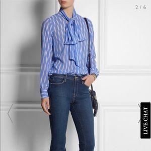 🔥Micheal Kors printed georgette blouse sz M